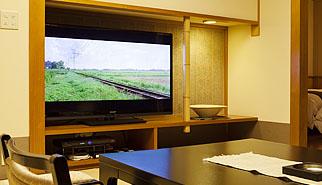 大型テレビでゆったり